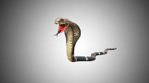 snake king cobra model