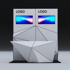 3D model pod backdrop counter