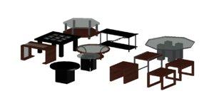 3D mesas centro