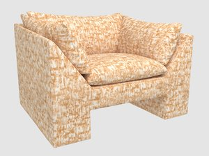 3D sunset chair brink bronze model