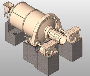 3D ball mills model