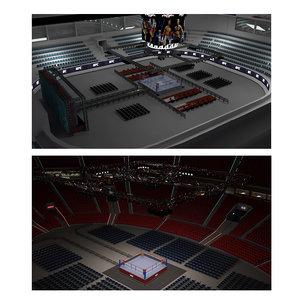 arena boxing 3D model