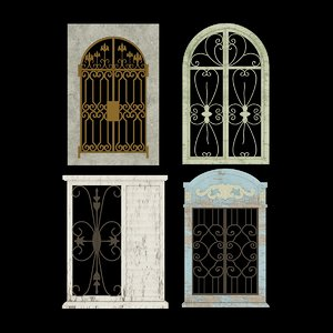 3D window old italy model