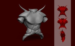 3D demon armor - tibia
