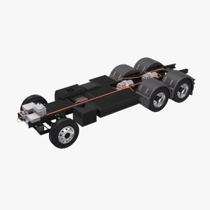 3D electric truck chassis model