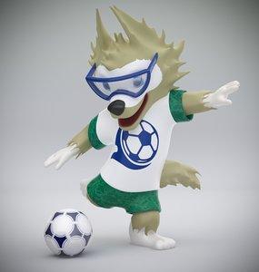 3D model wolfling football glasses