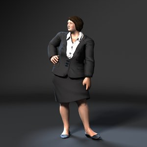 character woman business 3D