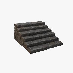 3D model stone steps v1