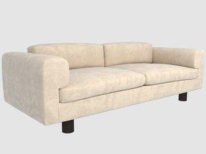 durant sofa kelly wearstler 3D model