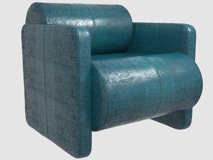 esfera club chair kelly 3D model