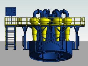 3D model cyclone hidro
