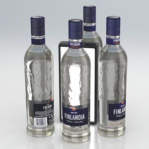 bottle alcohol vodka 3D