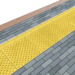 tactile tiles paving stones 3D