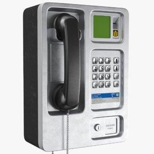 real public phone 3D model