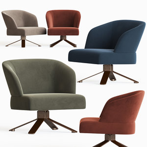 reeves small armchair minotti 3D model