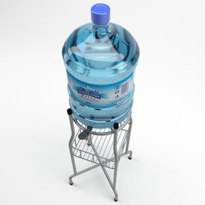 3D water bottle dispenser