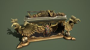 desert chest sarcophagus 3D model