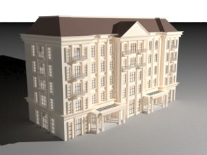 old architectural building 3D