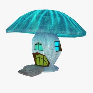 3D incandescent mushroom