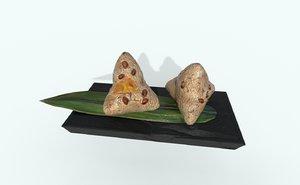 asia food rice dumpling 3D model