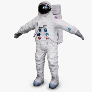 astronaut nasa space suit 3D model