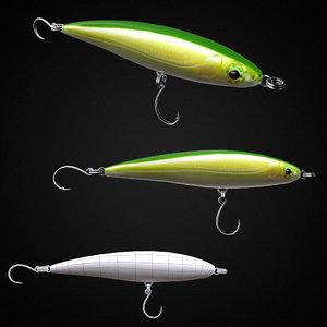 3D intermediate fishing lure