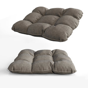 3D comfortable cushion pillow seat model