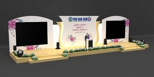 women day stage decoration 3D model