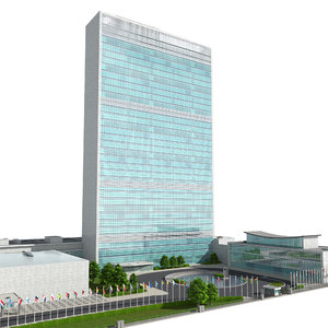 3D united nation headquarter