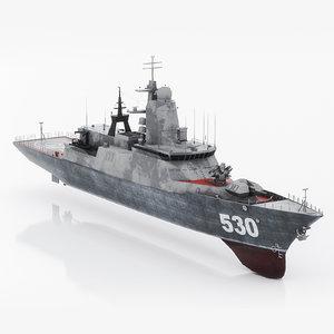 steregushchy russian corvette 530 3D