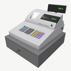 low-poly cash register 3D