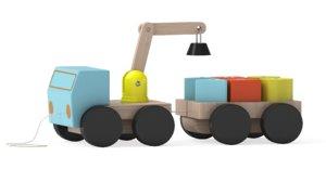 mula crane blocks 3D model