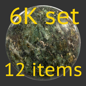 Stone gray and red 6K Texture set 12 items