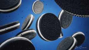 realistic oreo cookie 3D