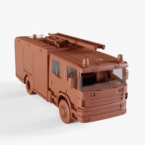 truck firetruck vehicle 3D model