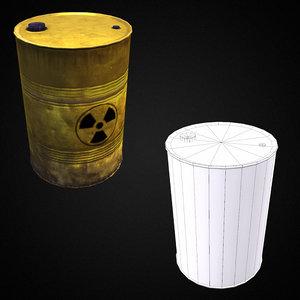 3D chemical waste barrel