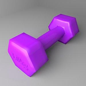 3D fixed dumbbell 3 kg