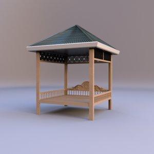 3D uzbek tapchan model