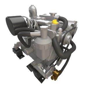 yanmar marine diesel engine 3D model