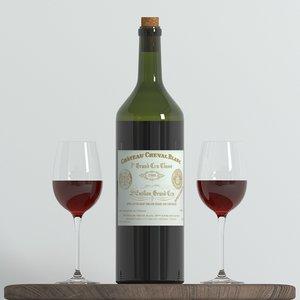 3D model bottle wine