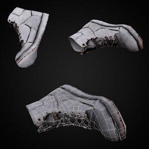 3D grungy dirty shoe model
