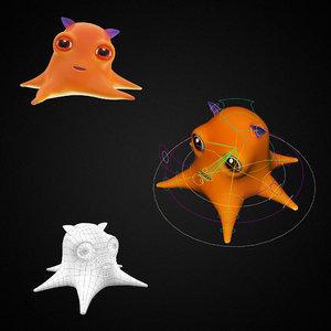 3D dumbo octopus toon fish