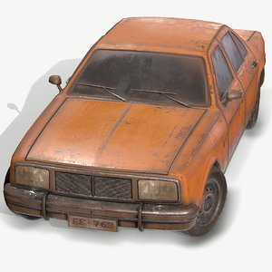 1 old car pbr 3D