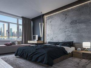 3D bedroom interior room