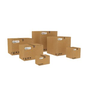 corrugated boxes 3D model