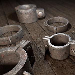 3D model inquisition collar shackles
