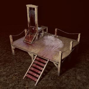 scaffold guillotine 3D