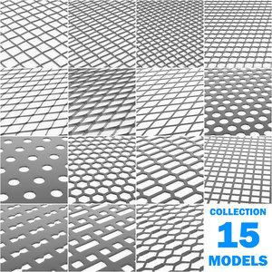 3D model lattices tiles