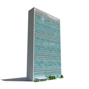 3D united nation headquarter main model