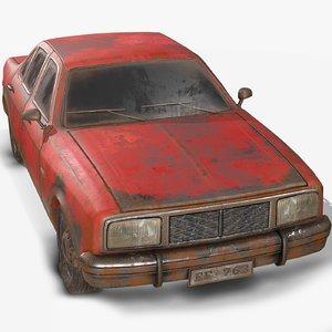 1 old car red 3D model